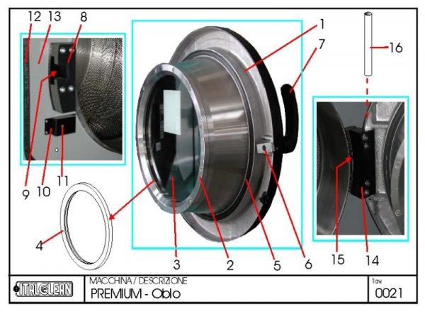 Load Door Gasket Aluminium for P300 and P360